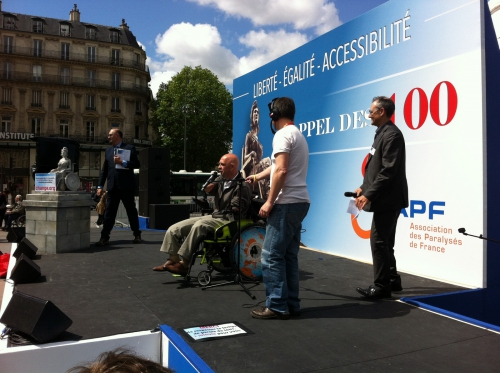 apf, accessibilité, appel des 100, manifestation paris