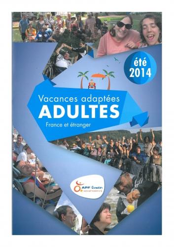 vacance,apf evasion,aide,ete 2014,catalogue