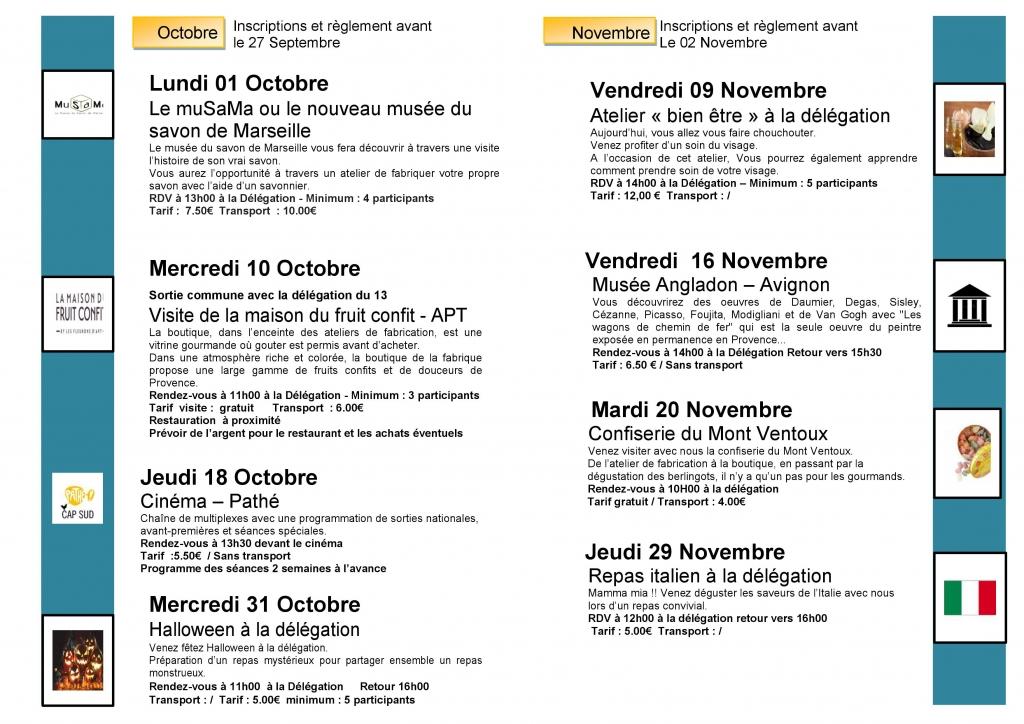Programme Des Sorties 4eme Trimestre 2018 Apf France Handicap